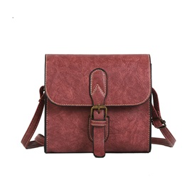 Vintage Plain Mini PU Crossbody Bag