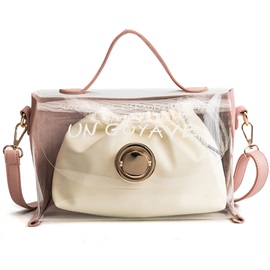 Modern Style Contrast Color Women Crossbody Bag