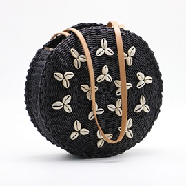Grass Knitted Circular Crossbody Bags