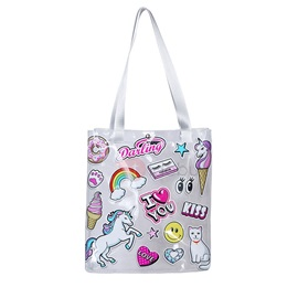 Print Cartoon PVC Rectangle Shoulder Bags