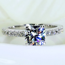 Square Imitation Diamond High Quality Wedding Ring