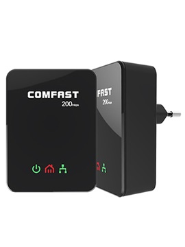 COMFAST CF-WP200M Power Line Ethernet Adapter Extender 200Mbps COMFAST 2.4GHz Mini Plc Home Plug Network Powerline Adapter