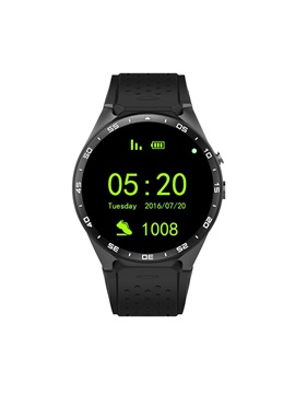 KW88 Bluetooth Smart Watch 512MB+4GB Heart Rate Monitor Support GPS/Wifi/SIM Card for Android iPhone