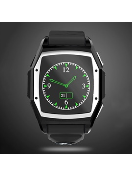 Rectangle Stainless Steel Case Synthetic Leather Band 0.3 MP Camera Pixels All Compatible Waterproof Smart Watch