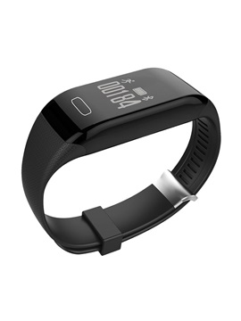 Touch-Screen Waterproof Passometer TPU Rectangle Smart Watch
