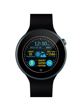 C1 Smart Watch Dual Bluetooth IP67 Waterproof HeartRate Monitor Siri Gesture Control Remote Camera for Android iOS