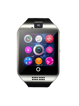 New Fashion SIM Card Q18 Smart Watch Sport Clock Sleep Tracker Smartwatch Android with Camera for Apple iPhone Smartphones