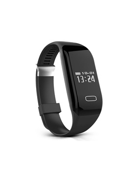 TPU Waterproof Touch-Screen Bluetooth Heart Rate Tracker Smart Bracelet