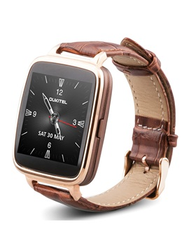 A28 Lexurious Bluetooth Smartwatch Leather Band Support Dial Call Message checking