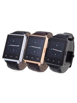 D6 Luxurious Android Smartwatch Phone RAM 1G ROM 8G Genuine Leather band WiFi 3G Network Health Monitoring