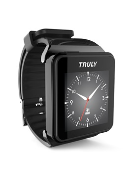 TRULY Etimer S Smart Watch Support Message Push & Siri Detachable Bluetooth Headphone Smart Bracelet for Apple
