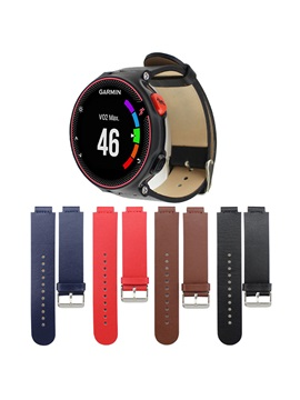 Solid Colors Leather Smart Watch Band for Garmin Forerunner 230 235 630 Wearable Tech