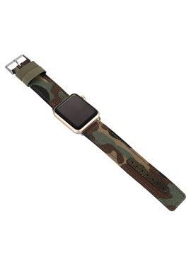Camouflage Leather Smart Watch Strap for 38mm/42mm Apple Iwatch Smartwatch Tech