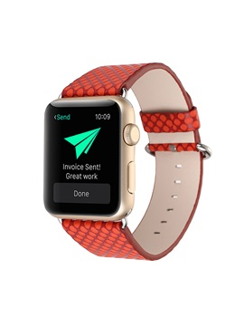 For 38mm/42mm Apple Iwatch Smart Watch Tech Leather Strap