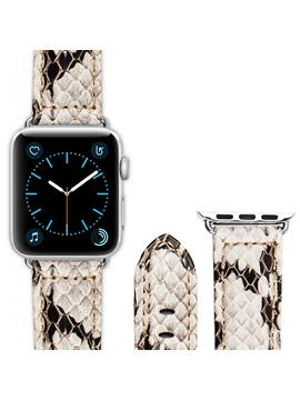 Apple Smart Watch Band Snake Skin Pattern Leather Strap for iWatch 3/2/1