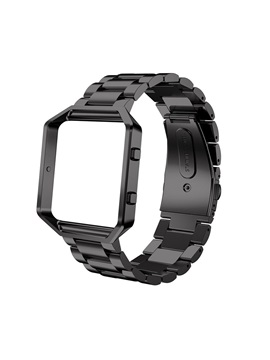 Fitbit Blaze Metal Bands for Men, Stainless Steel Business Replacement Strap with Metal Frame as Gifts