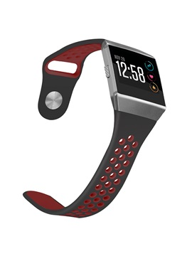 Fitbit Ionic Sport Band, Two-toned Perforated Replacement Strap Breathable Wristband with Double Buckle