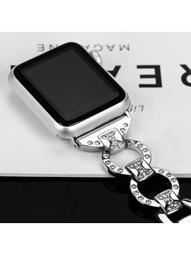 Luxury Bling Apple Watch Metal Band,Stainless Steel Strap Diamond for Women/Ladies 38mm/42mm