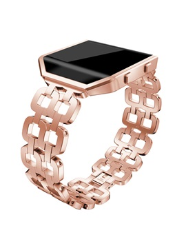 Fitbit Blaze Slim Bands Replacement ,Fashionable Stainless Steel with Double Bracelet for Girls Women