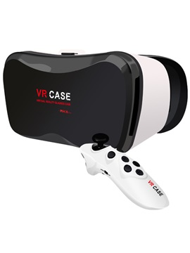 VR CASE Version VR Virtual Reality 3D Glasses For 3.5 - 6.0 inch Smartphone+Bluetooth Controller