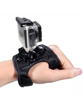 Black 360 Rotatable Nylon Camera Wristband