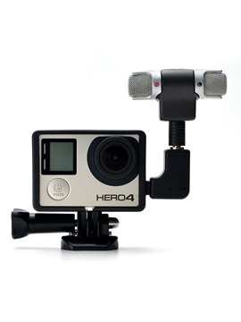 Mini Hifi Stereo Microphone with Standard Frame for GoPro Hero 3/3+/4
