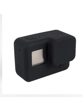 GoPro Hero 5 Case,Colorful Shockproof Soft Silicone Gel Case with Lens Cap