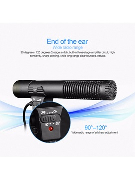 MIC 01 Camera Microphone Photography Interview Microphone for DSLR Camera