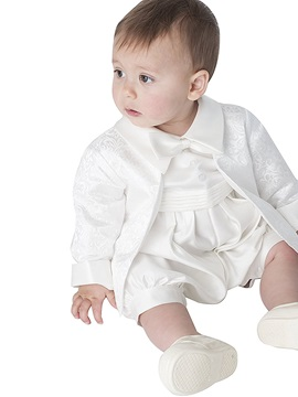 Cute Infant Baby Boy's 2-Pieces Romper Christening Gown