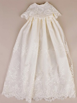 Vintage Sleeves Sashes Lace Baby Girl's Christening Gowns