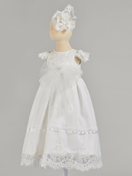 Cap Sleeves Lace Baby Girl's Christening Gown