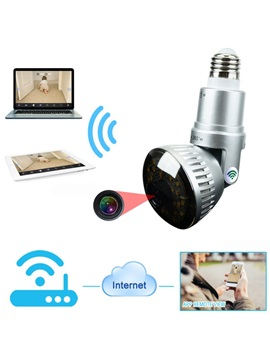 EazzyDV IB-175WM LED White Lights Bulb IP WIFI Micro Surveillance 720P IR-Cut 360° Cameras for Home Security