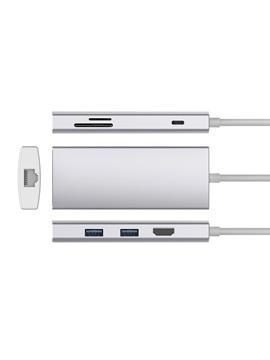 USB C Hub, 7-in-1 Premium Adapter