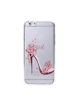 High Heeled Shoes Pattern Swarovski Diamond High Quality Laser Relief Touch Phone Case for iPhone 6/6S plus