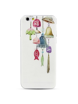 Silicone soft shell embossed edge of the small drop of anti - art small bells phone case for iPhone 6 / 6S