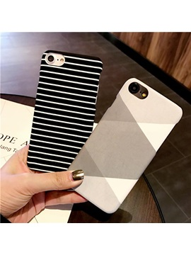 iPhone 6/6s/7/7 Plus Case,Scrub Stripe Hard Case Cover