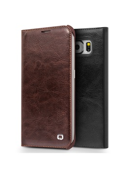 Samsung S6 Edge Case Luxury Leather Cellphone Case Cover Full Body Protection Case for Samsung S6 Edge