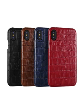 Solid Color Crocodile Pattern Case for IPhone X