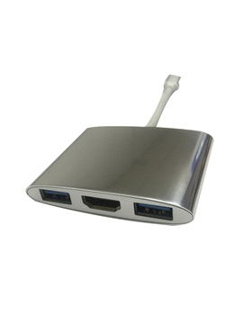 New 3-port Type-c to VGA Adapter