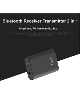 B9 Bluetooth Audio Receiver Transmitter,2-in-1 Wireless Adapter with 3.5mm Jack