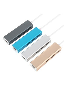 USB 3.0 to RJ45 1000 Mbps Network Adapter NIC & 3-port Aluminum Hub