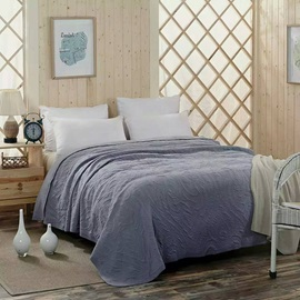 Simple Soft Solid Grey Reversible Cotton Quilt