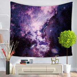 Purple Galaxy Pattern Decorative Hanging Wall Tapestry