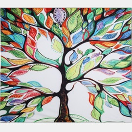 Red and Green Leaves Tree Pattern Ethnic Style Wall Tapestries