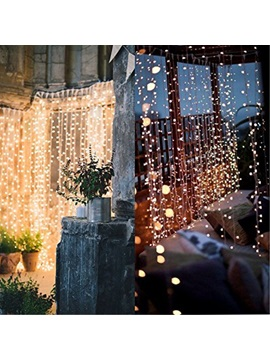 Twinkle Curtain Night Light for Christmas/Halloween/Wedding Decorations Lamp 60 LEDs Warm White 3.3ft