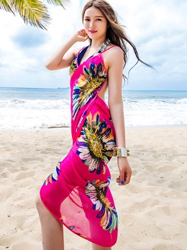 Chiffon V-neck Women Beach Sarong