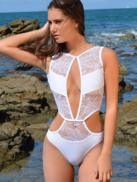 Fancy Hollow See-Through Monokini