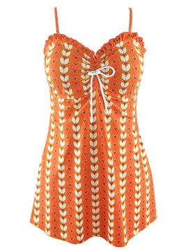 Color Block Print Beach Dress Swimwear