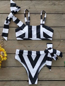 Tankini Set Stripe Sexy Women's Swimwear