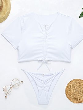 Tankini Set Fashion Plain Women's Swimwear